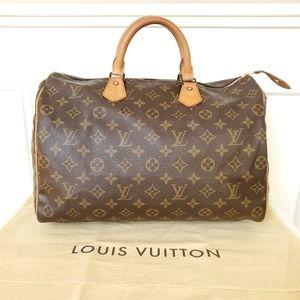 Louis Vuitton Monogram Speedy 35 Satchel